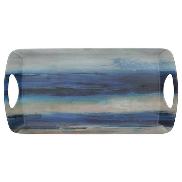 Creative Tops Blue Abstract Small Luxury Handled Tray