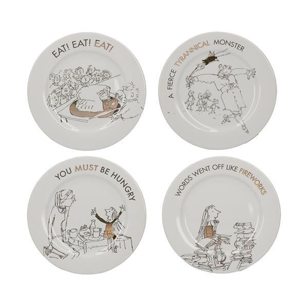 Roald Dahl Matilda Phizz-Whizzing Set Of 4 Side Plates