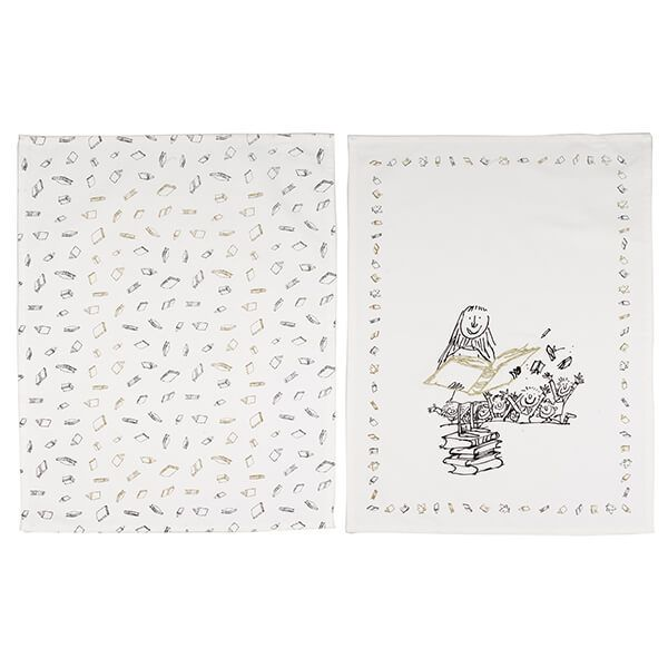 Roald Dahl Matilda Phizz-Whizzing Set Of Two Tea Towels