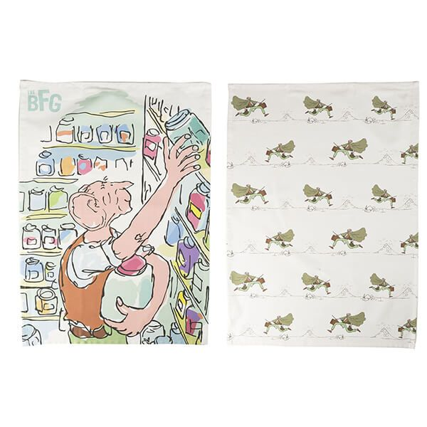 Roald Dahl BFG Set Of 2 Tea Towels