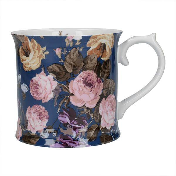 Katie Alice Wild Apricity Navy Floral Tankard Mug