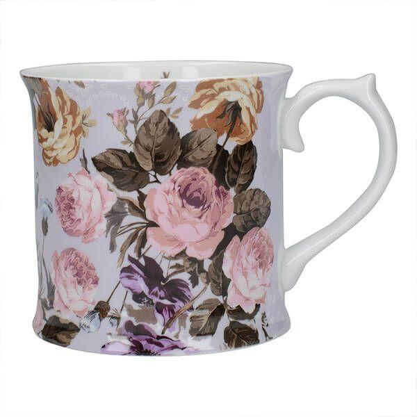 Katie Alice Wild Apricity Grey Floral Tankard Mug