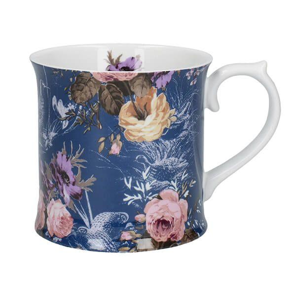 Katie Alice Wild Apricity Navy Bird Tankard Mug