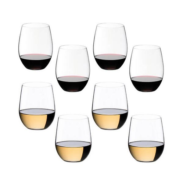 Riedel O Cabernet / Merlot & Viognier / Chardonnay Wine Glass Eight Piece Set