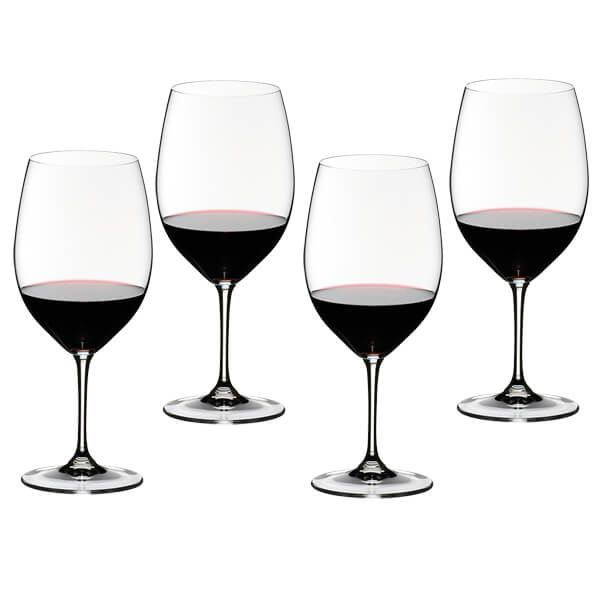 Riedel Vinum Cabernet Sauvignon / Merlot Wine Glasses Set Of 4