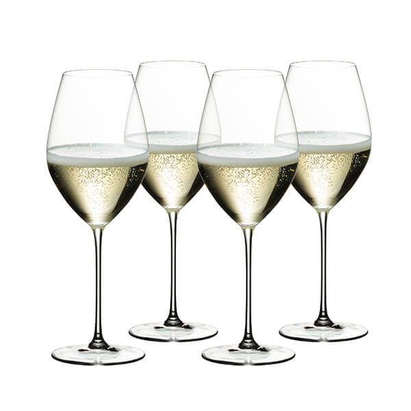 Riedel Veritas 265 Year Anniversary Champagne Wine Glass Set Of 4