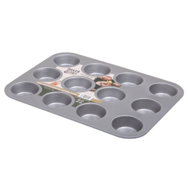 Baker & Salt Non-Stick 12 Cup Muffin Tin