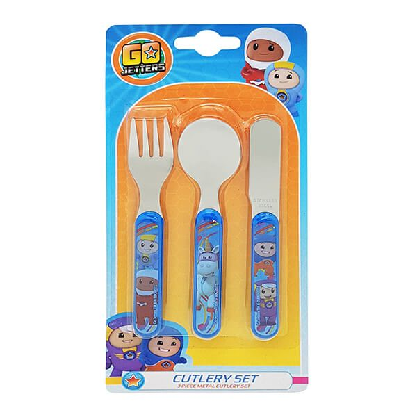 CBeebies Go Jetters 3 Piece Cutlery Set