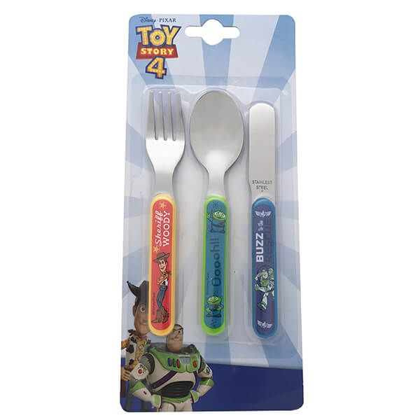 Disney Toy Story 4 3 Piece Cutlery Set