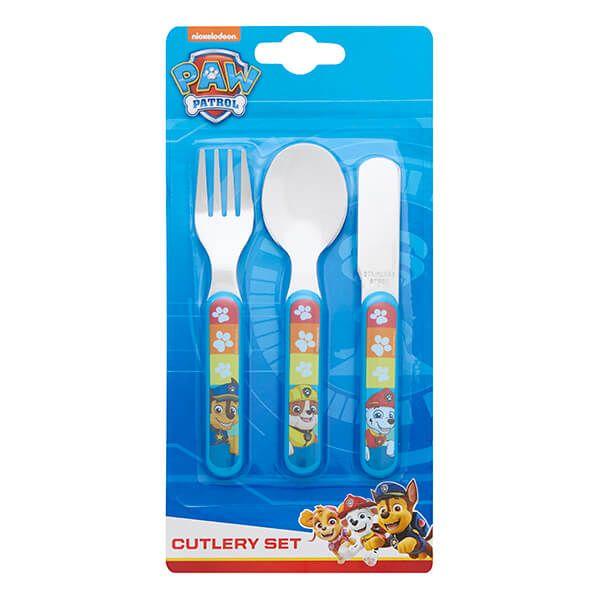Paw Patrol Rescue 3 Piece Metal Cutlery Set