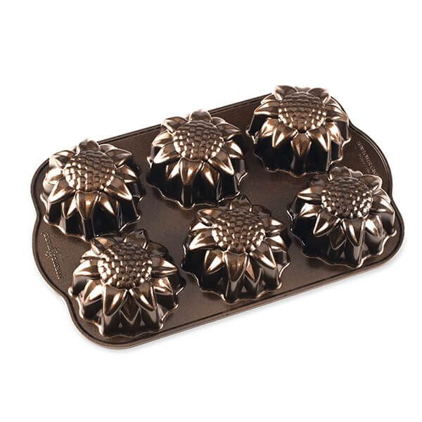 Nordic Ware Bronze Sunflower Cakelet Pan