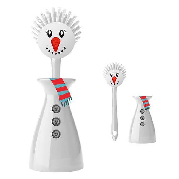 Eddingtons Mr Snowman Dish Brush & Stand