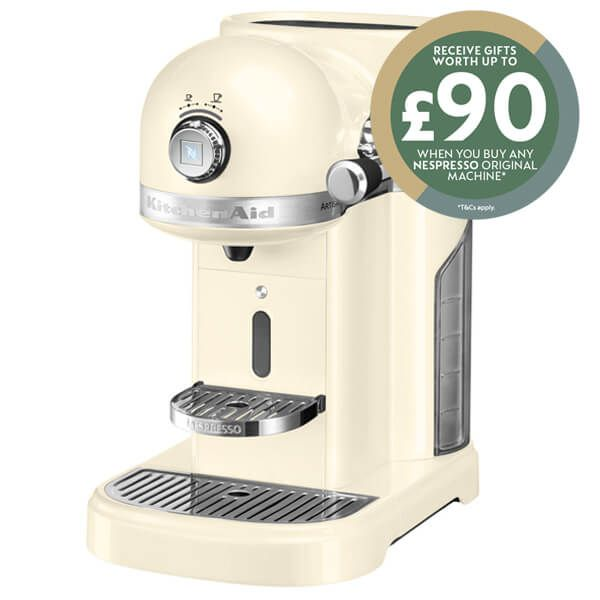 KitchenAid Artisan Nespresso Almond Cream Coffee Maker with FREE Gifts
