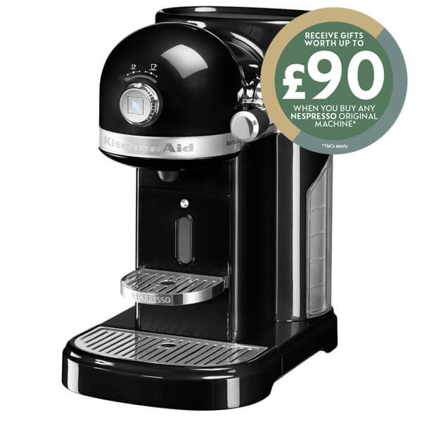KitchenAid Artisan Nespresso Onyx Black Coffee Maker with FREE Gifts