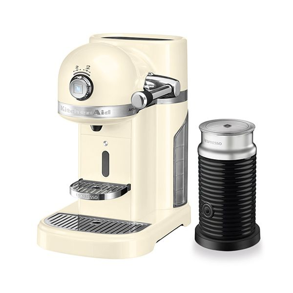 KitchenAid Artisan Nespresso Almond Cream Coffee Maker & Aeroccino 3