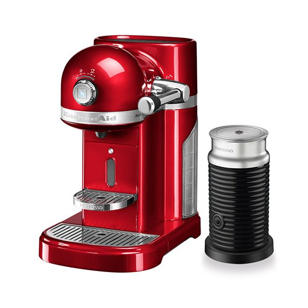 KitchenAid Artisan Nespresso Candy Apple Coffee Maker & Aeroccino 3