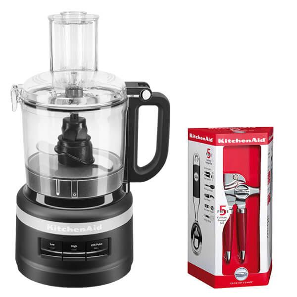 KitchenAid 1.7L Matte Black Food Processor with FREE Gift