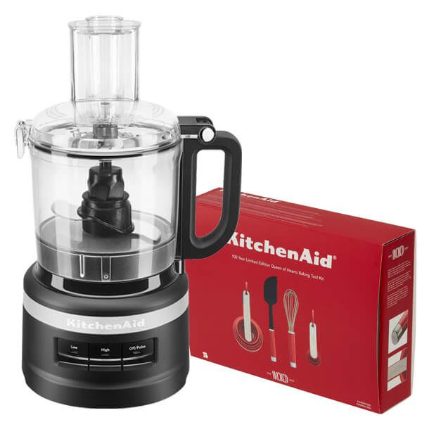 KitchenAid 1.7L Matte Black Food Processor with FREE Gift