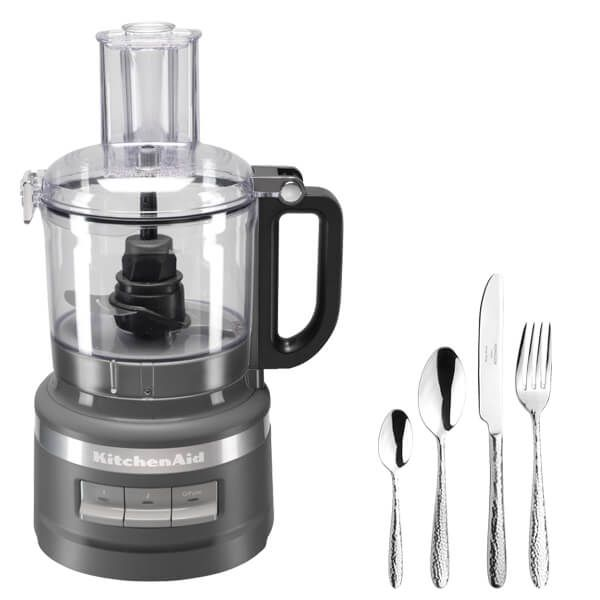 KitchenAid 1.7L Charcoal Grey Food Processor with FREE Gift
