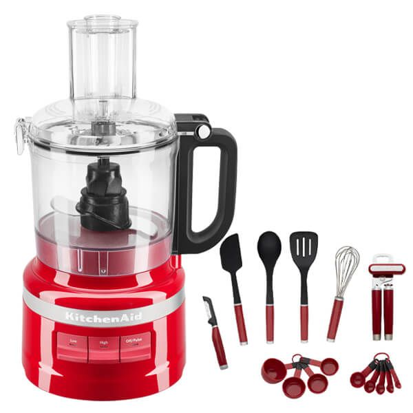 KitchenAid 1.7L Empire Red Food Processor with FREE Gift