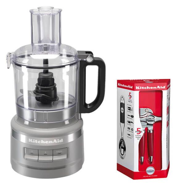 KitchenAid 1.7L Matte Grey Food Processor with Free Gift