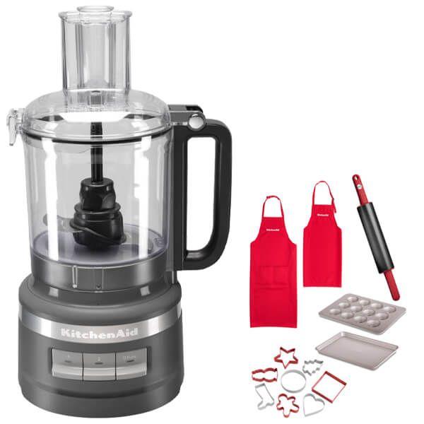 KitchenAid 2.1L Charcoal Grey Food Processor with FREE Gift