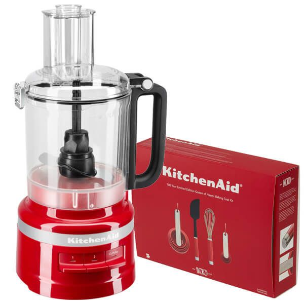 KitchenAid 2.1L Empire Red Food Processor with FREE Gift
