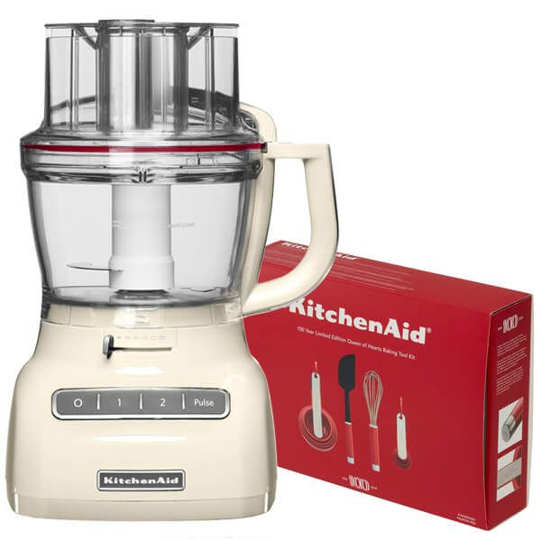 KitchenAid 3.1L Almond Cream Food Processor with FREE Gift