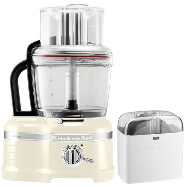 KitchenAid Artisan Almond Cream 4L Food Processor with FREE Gift