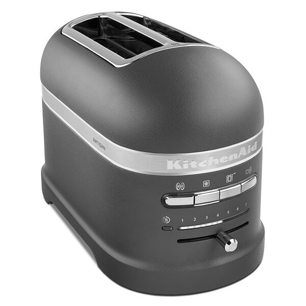 KitchenAid Artisan Matt Imperial Grey 2 Slot Toaster - Exclusive to Harts of Stur