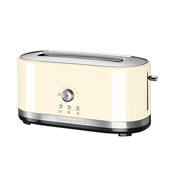 KitchenAid Almond Cream Manual Control Long Slot Toaster