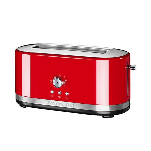 KitchenAid Empire Red Manual Control Long Slot Toaster