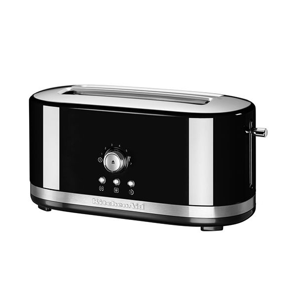 KitchenAid Onyx Black Manual Control Long Slot Toaster