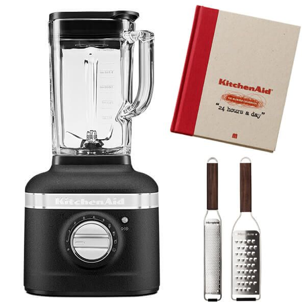 KitchenAid Artisan Cast Iron Black K400 Blender with FREE Gifts