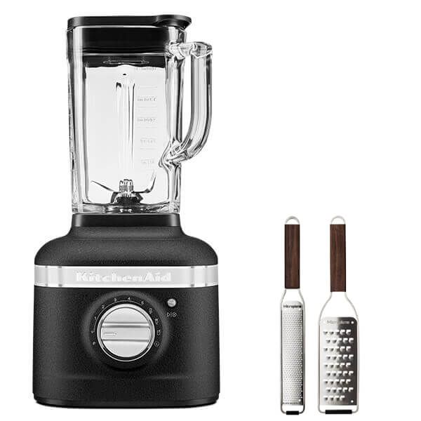 KitchenAid Artisan Cast Iron Black K400 Blender with FREE Gift