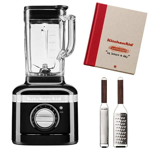 KitchenAid Artisan Onyx Black K400 Blender with FREE Gifts