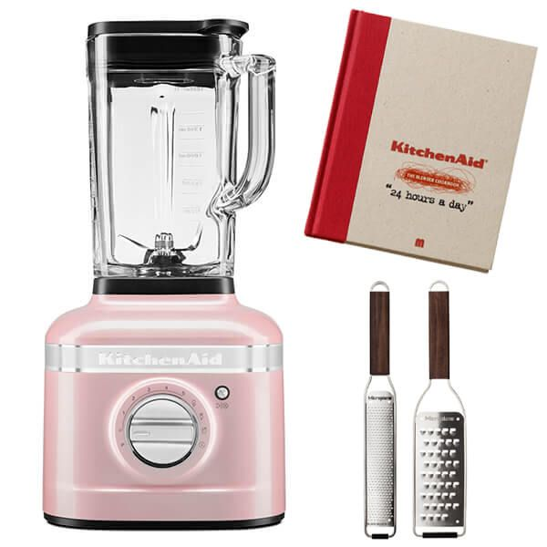 KitchenAid Artisan Silk Pink K400 Blender with FREE Gifts