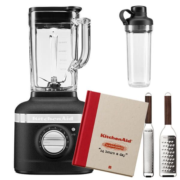 KitchenAid Artisan Cast Iron Black K400 Blender with Personal Jar and FREE Gifts