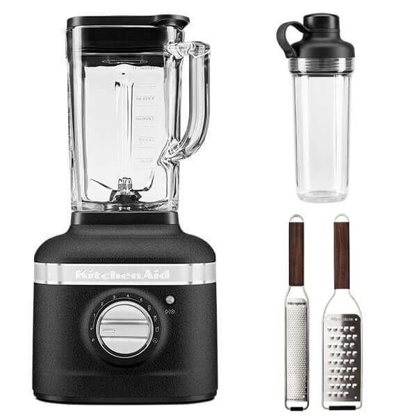 KitchenAid Artisan Cast Iron Black K400 Blender with Personal Jar and FREE Gift