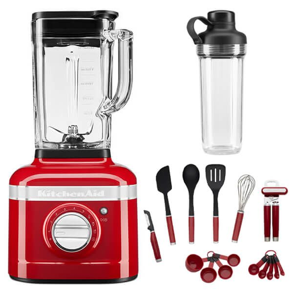 KitchenAid Artisan Candy Apple K400 Blender with Personal Jar and FREE Gift