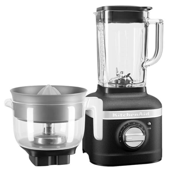 KitchenAid Artisan Cast Iron Black K400 Blender with Citrus Press