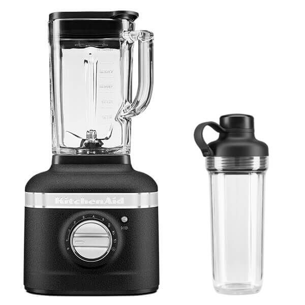 KitchenAid Artisan Cast Iron Black K400 Blender with Personal Jar