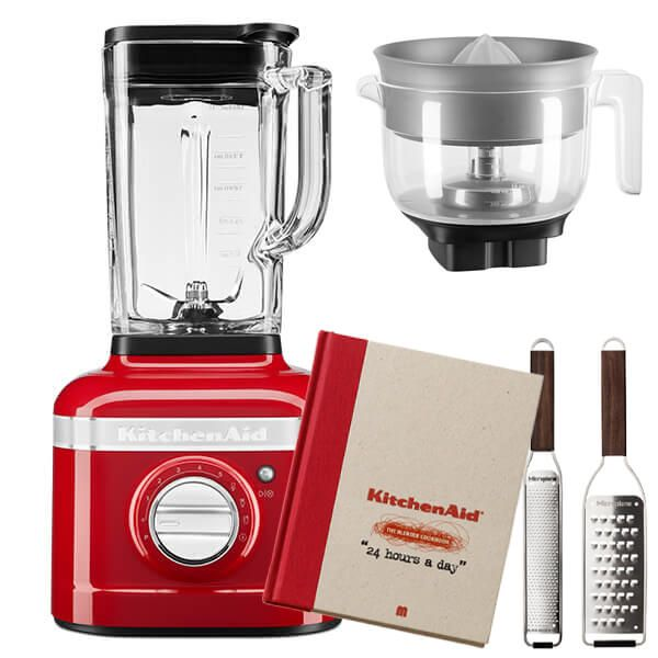KitchenAid Artisan Candy Apple K400 Blender with Citrus Press and FREE Gifts