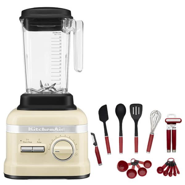 KitchenAid Artisan Almond Cream High Performance Blender 1.75L with FREE Gift