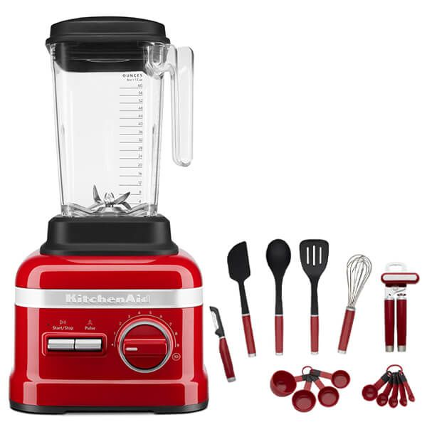 KitchenAid Artisan Empire Red High Performance Blender 1.75L with FREE Gift