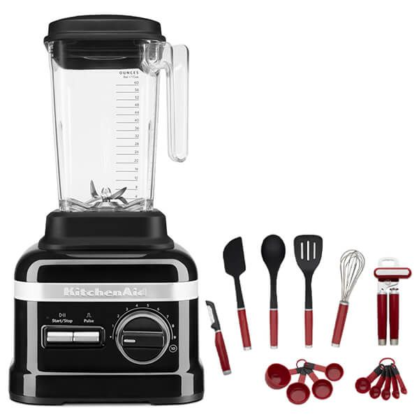 KitchenAid Artisan Onyx Black High Performance Blender 1.75L with FREE Gift