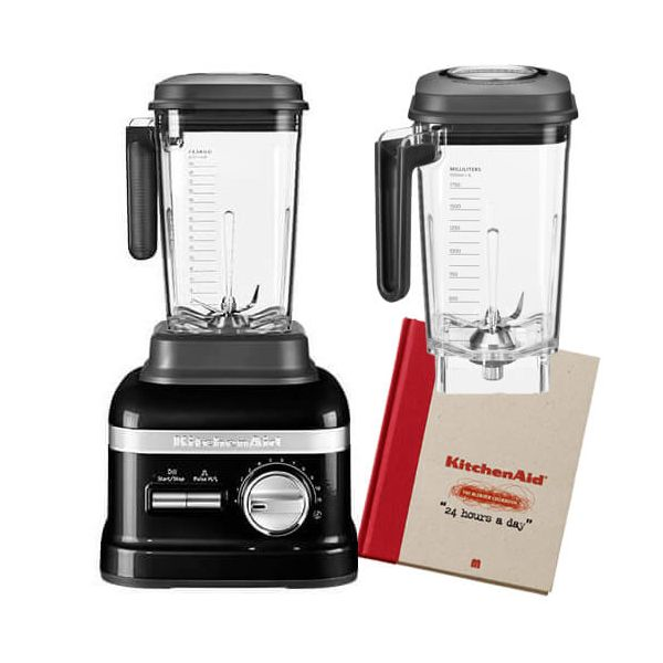 KitchenAid Artisan Onyx Black Power Blender with FREE Gifts
