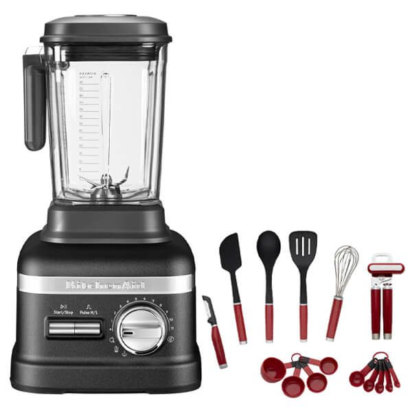 KitchenAid Artisan Power Plus Blender Cast Iron Black with FREE Gift