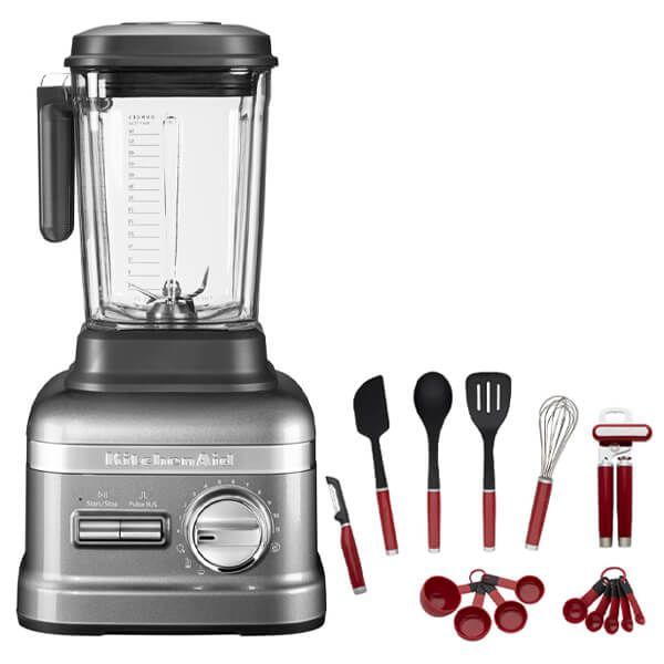 KitchenAid Artisan Power Plus Blender Medallion Silver with FREE Gift