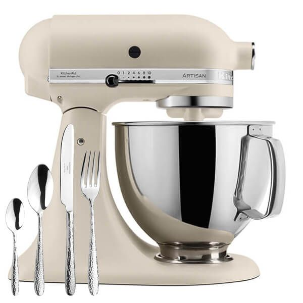 KitchenAid Artisan Mixer 175 Fresh Linen With FREE Gift